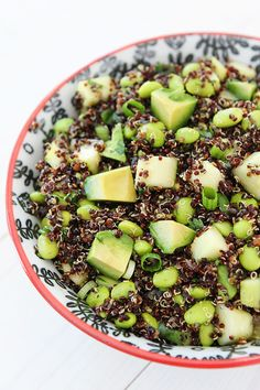 Quinoa Salad with Edamame, Cucumber and Avocado Recipe on twopeasandtheirpod.com Love this gorgeous and healthy salad! #recipe #salad