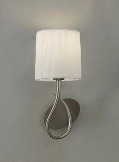 Aplique blanco níquel LUA - La Casa de la Lámpara