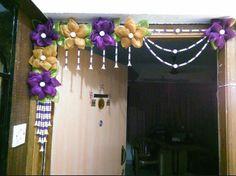 Pin by Dhanashree J on Kundan Rangoli and Work Diy Home Crafts, Diy Arts And Crafts, Hobbies And Crafts, Diy Craft Projects, Fun Crafts, Crochet Projects, Diy Diwali Decorations, Festival Decorations, Diy Decoration
