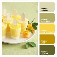 mango-orange-yogurt-popsicles and other 'cool' popsicle recipes Köstliche Desserts, Frozen Desserts, Frozen Treats, Wedding Desserts, Yogurt Popsicles, Homemade Popsicles, Orange Popsicles, Homemade Lemonade, Orange Yogurt