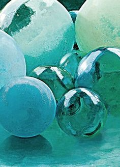 Sea glass floats