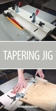 The tapering jig is one of the easier to build but often overlooked. What is a tapering jig exactly? To put is simply, it's a sled that works with your table saw ...  Click VISIT link above for more info