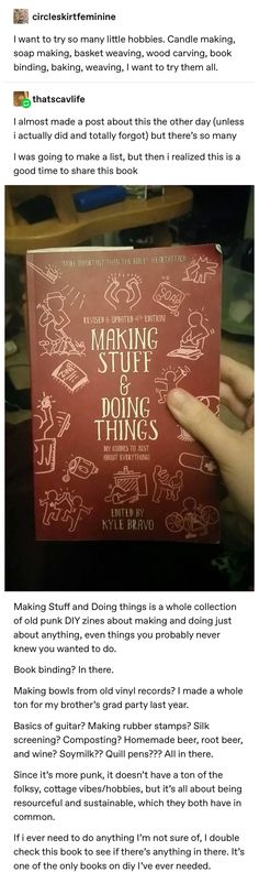 Sachen machen und Dinge tun - Buchempf - Eine Sammlung alter Punk-Zines für al. Doing things and doing things - Buchempf - A collection of old punk zines for all kinds of activities - # book rec Books To Read, My Books, Stuff To Do, Cool Stuff, Useful Life Hacks, The More You Know, Tumblr Posts, Book Nerd, Punk