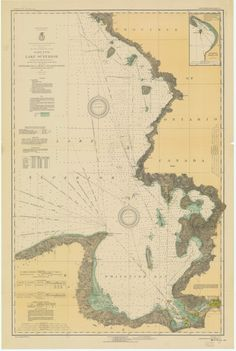 Lake Michigan South End Waukegan to South Haven Historical Map