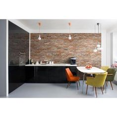 Komar 100 in. x 145 in. Brick Wall Mural-8-741 at The Home Depot