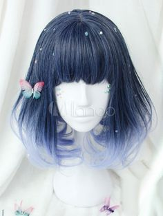 Buy high quality Lolita wigs 2020 in different styles at reasonable price. Wigs for different Lolita shows, Cosplay shows and famous anime characters are available for you to choose. Frontal Hairstyles, Undercut Hairstyles, Pixie Hairstyles, Blue Hairstyles, Cosplay Hair, Cosplay Wigs, Kawaii Hairstyles, Pretty Hairstyles, Short Hair Cuts