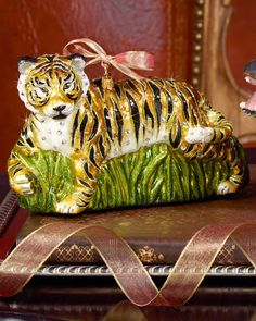 Jay Strongwater Stalking LSU Tiger Christmas Ornament