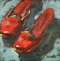 """""""Red Shoes"""" - Original Fine Art for Sale - © Cathleen Rehfeld"""