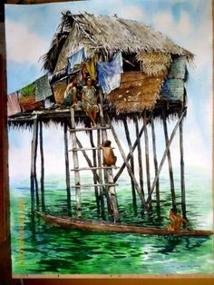 Watercolor Paintings by Malaysian Artist Yong Look Lam