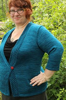 Meander by Kim McBrien Evans - knit this CustomFit sweater pattern with Indigodragonfly!