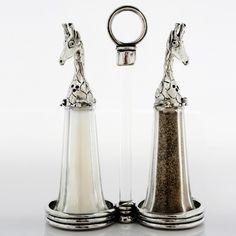 Giraffe Tall Salt and Pepper Shaker Set