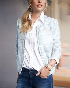Pretty blazer - 2nd choice.  Would love to feature it with a baby pink top or other top that would work well with this jacket..