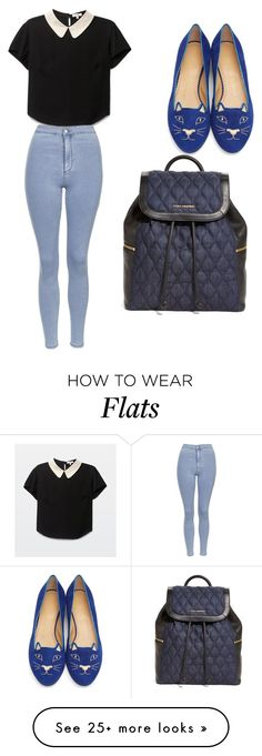 """My First Polyvore Outfit"" by mikaelacallope on Polyvore featuring Charlotte Olympia, Topshop and Vera Bradley"