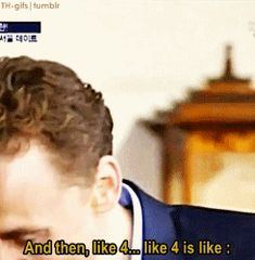 A GIF set where Tom describes his laugh. Just might be the best thing I have ever seen. EVER.