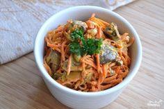 Корейская морковка с печенью - питательно и вкусно!