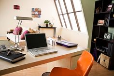 Comfortable and Simple Home Office Decorating Ideas - http://homedecormodel.com/comfortable-and-simple-home-office-decorating-ideas/