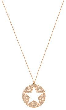 Pave Diamond Cutout Star Pendant Necklace