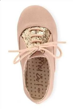 THESE PINK SPARKLE LACE-UPS ARE RIGHT UP MY STREET!