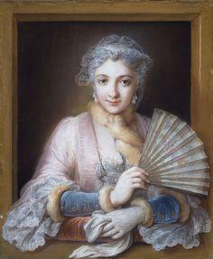 Louise Anne de Bourbon, Mademoiselle de Charolais; by Charles-Antoine Coypel, c. 1740's-1750's. She was the daughter of Louis de Bourbon, Prince of Condé and Louise Françoise de Bourbon.