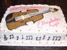 violin cake - Google Search
