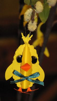 Alexs Creative Corner: 3D punch art Easter ornaments - Chick