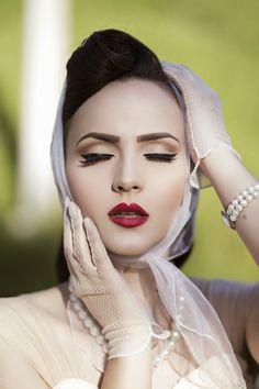 1940s Makeup, Retro Makeup, Make Up Looks, Pin Up Makeup, Hair Makeup, Nude Makeup, Black Makeup, Crazy Makeup, Makeup Art