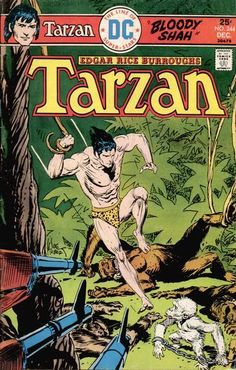A cover gallery for the comic book Tarzan of the Apes Comic Book Characters, Comic Books Art, Comic Art, Old Comics, Vintage Comics, Book Cover Art, Comic Book Covers, Caricatures, Tarzan Of The Apes