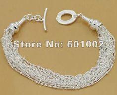 GY-PB022 Free Shipping Wholesale 925 silver Fashion Jewelry Bracelets, 925 Silver Bracelets ccba ktia tkra US $2.21