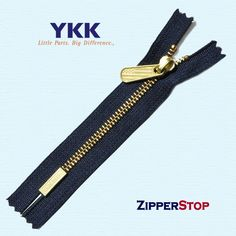 YKK #5 Bottom Badge ~ Brass | Zipperstop Textiles, Badge Design, Navy Color, News Design, American Flag, Brass, Zippers, Trending Outfits, Legs