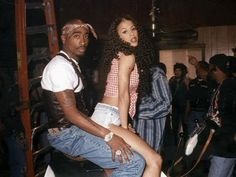 """Tupac Shakur and Heather Hunter pictured on April in 1996 during the filming of """"How Do U Want It? Tupac Shakur, Black Couples Goals, Cute Couples Goals, Rapper, Heather Hunter, Tupac Pictures, Fille Gangsta, Black Relationship Goals, 90s Hip Hop"""
