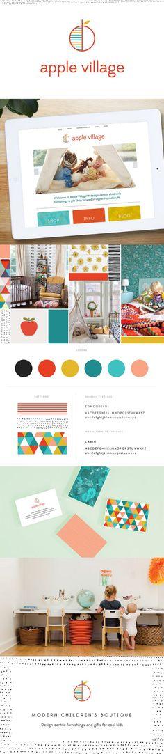 Apple Village Children's Boutique Branding — June Letters Studio