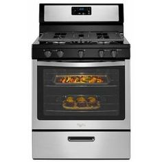 Whirlpool 5-Burner Freestanding 5.1-cu ft Gas Range (Stainless Steel) (Common: 30-in; Actual 29.88-in)