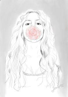 Digital Portrait by Lena Kulaç Digital Portrait, Digital Art, Disney Characters, Fictional Characters, Aurora Sleeping Beauty, Disney Princess, Sketches, Draw, Doodles