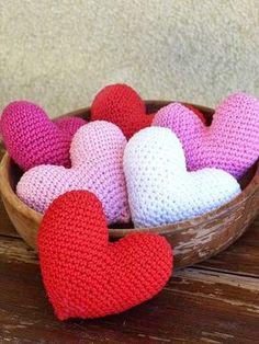 Kouzlo mého domova: Valentýnská háčkovaná srdíčka