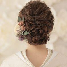 Cute Hairstyles, Wedding Hairstyles, Japanese Wedding, Hair Arrange, Hair Setting, Japanese Hairstyle, Japanese Outfits, Headdress, Flowers In Hair