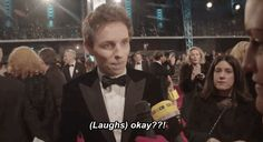 Question: Can you give us a twirl? | Eddie Redmayne Hilariously Answers Questions That Female Celebrities Get Asked On The Red Carpet