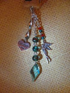 Twisted Sister rearview mirror dangler sister charm by CorkChains, $8.00
