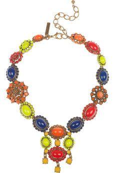 bold colours, statement neckpiece {Oscar de la Renta}