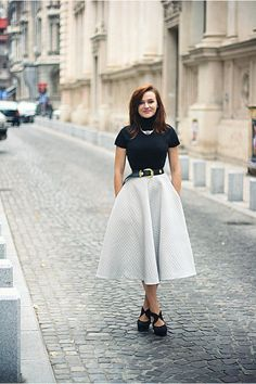 Discover this look wearing Black Midi H&M Skirts, Forever 21 Shoes, Gold OASAP Necklaces tagged skirt - Some kind of a fancy garment by Chaba styled for Chic, Everyday in the Winter Modest Outfits, Skirt Outfits, Dress And Heels, Dress Up, Night Outfits, Fashion Outfits, Fasion, Big Skirts, Black Midi