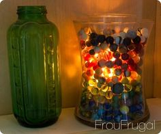 CANDLES: Store-bought tea lights or tapers can't hold a candle to these low cost, classy creations.