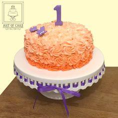 Ombre Rosette Birthday Cake