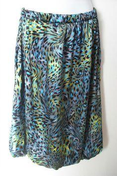 0d9ab98e965ad Body Central USA Made Cheetah Leopard Animal Print Bubble Skirt