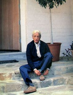 Jiddu Krishnamurti in Ojai, California.