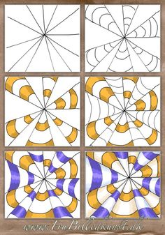 op art kegler – www.FruBilledkuns… op art kegler – www. Optical Illusions For Kids, Optical Illusions Drawings, Illusion Drawings, Art Optical, Art Drawings, Illusions Mind, How To Draw Illusions, Drawing Art, Op Art Lessons