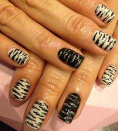zebra nail❤ by azusa - Nail Art Gallery nailartgallery.nailsmag.com by Nails Magazine www.nailsmag.com #nailart
