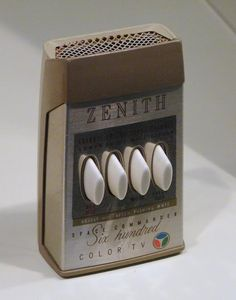 "Zenith Space Commander 600 Color TV remote control (ca. ""adjust hue after pushing mute"" Carl Sagan Cosmos, Radios, Space Commander, Old Technology, Vintage Television, Tv Remote Controls, Record Players, Vintage Tv, Vintage Stuff"