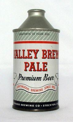 Valley Brew Pale Beer 12 oz Cone Top Beer Can Stockton CA | eBay