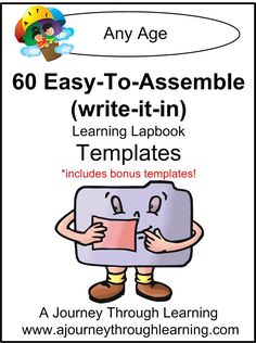 60 Easy To Assemble Lapbook Templates (write-it-in)