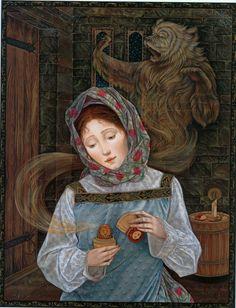Laurel Long, illustration for The Magic Nesting Doll by J. Ogburn, Dial Books Ed, edition 2000 Inspiration Art, Fairytale Art, Russian Art, Children's Book Illustration, Mythology, Folk Art, Fantasy Art, Fairy Tales, Drawings