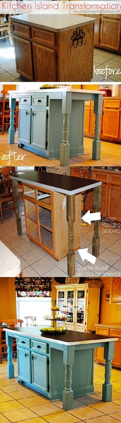 diy kitchen island from stock cabinets | diy home | pinterest